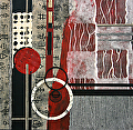 Pretty In Red 4 by Carol Staub Mixed Media ~ 24 x 24
