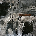 City Lost by Carol Staub Mixed Media ~ 25 x 25