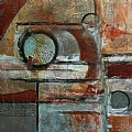 Dream Merchant by Carol Staub Mixed Media Collage ~ 37 x 36