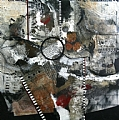 Piano Man by Carol Staub Mixed Media on Canvas ~ 36 x 36