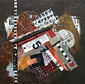 5-7 by Carol Staub Mixed Media on Canvas ~ 12 x 12