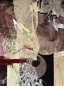 Summer Storm by Carol Staub Mixed Media Collage ~ 24 x 20.75