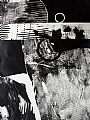 Black and White Series No.8 by Carol Staub Mixed Media ~ 30 x 22