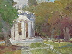 "Pulgas Water Temple by Kathryn Ellis Oil ~ 9"" x 12"""