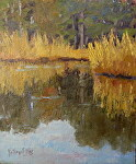 Wetland Reflections by Kathryn Ellis Oil ~ 12 x 10