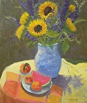 Farmers' Market Bounty by Kathryn Ellis Oil ~ 24 x 20