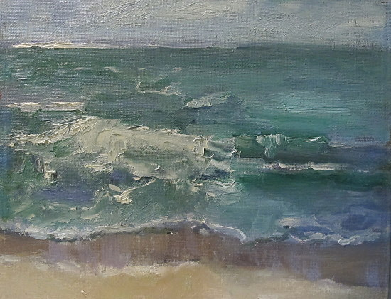 Wave Study by Kathryn Ellis Oil ~ 8 x 10