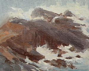 Crashing Waves by Kathryn Ellis Oil ~ 8 x 10
