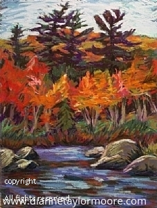 """""""The Cove"""" by Dianne Taylor Moore  ~ 9"""" x 12"""""""