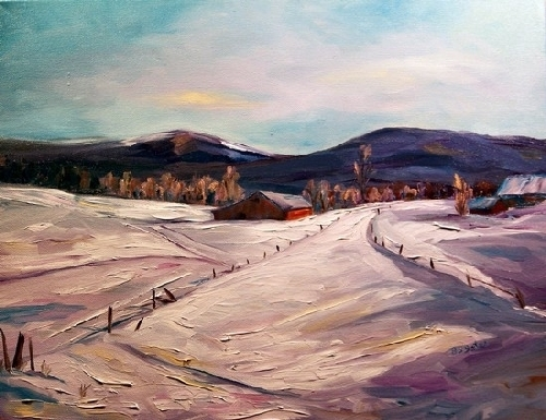 Winter's Color by Barb Yates Dudding Oil ~ 16 x 20