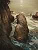 The Towers of Pt Lobos by Brian Blood Oil ~ 18 x 14