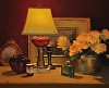Still life w Red Lamp by Brian Blood Oil ~ 20 x 24