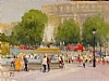 Trafalgar Square, London by Brian Blood Oil ~ 9 x 12