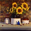 Cherries and Sunflowers by Brian Blood - Oil