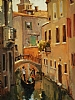 Quiet Canal, Venice by Brian Blood - Oil