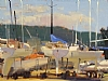 Sailboat Corral by Brian Blood Oil ~ 9 x 12