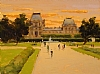 Sunset at the Louvre by Brian Blood Oil ~ 9 x 12