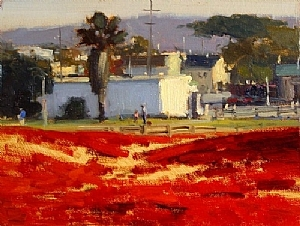 Winter Light, Monterey by Brian Blood Oil ~ 9 x 12