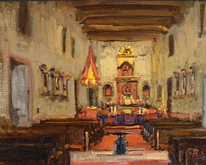 Mission San Diego de Alcala by Brian Blood - Oil