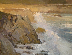 Last Light Along the Coast by Brian Blood Oil ~ 11 x 14