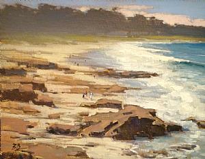 Rocks & Surf @ Spanish Bay by Brian Blood Oil ~ 11 x 14