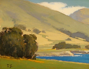 Meadow at Rocky Point by Brian Blood Oil ~ 11 x 14