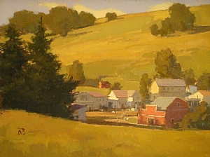 Summer in Tomalis by Brian Blood - Oil