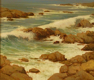 Rocks & Surf by Brian Blood - Oil