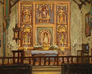 Mission San Gabriel Arcangel by Brian Blood Oil ~ 11 x 14