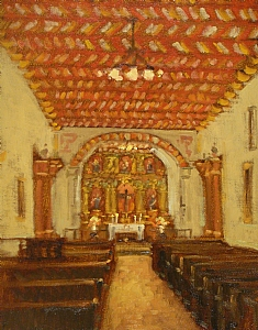 Mission San Francisco de Asis by Brian Blood Oil ~ 14 x 11