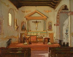 Mission San Luis Obispo by Brian Blood Oil ~ 11 x 14