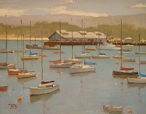 Morning in Monterey by Brian Blood - Oil