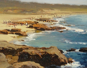 Above Asilomar Beach by Brian Blood Oil ~ 11 x 14