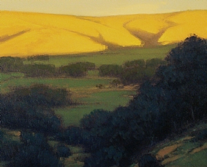 Last Light Over the Valley by Brian Blood - Oil