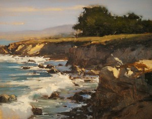 Winter Surf in Paciifc Grove by Brian Blood Oil ~ 11 x 14