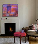 """Lunar Glow,"" in a living room setting by Carol McIntyre Oil ~ 16 x 20"