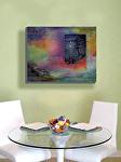 """Moonlight Sonata"" in contemporary dining room by Carol McIntyre Oil ~ 24"" x 30"