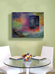 """Moonlight Sonata"" in contemporary dining room by Carol McIntyre Oil ~ 24"" x 30"