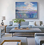 Unearthing Dreams in a living room setting by Carol McIntyre Oil ~ 36 x 48""