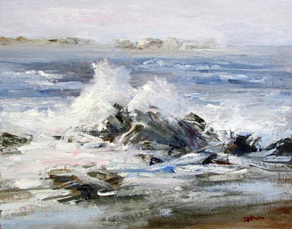 Tide Pool by Sue Smith Oil ~ 11 x 14