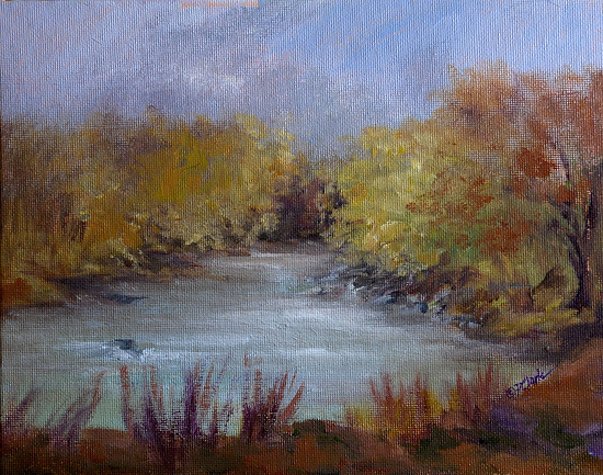 Singing Waters by Donna PierceClark Acrylic ~ 8 inches x 10 inches