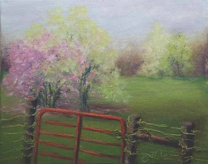 SPRING SCENTS by Donna PierceClark Acrylic ~ 8 inches x 10 inches