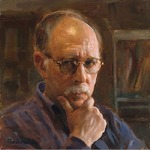 Cary Jurriaans - MAX GINSBURG, Painting from life; figure in the environment