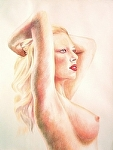 "Scarlett by Don Sinish Watercolor ~ 24"" x 18"""
