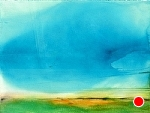 "Liquid Sky-Blue Sky for Turner by Don Sinish Acrylic ~ 22"" x 30"""
