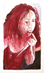 "Toni transformations 5:  Never Again by Don Sinish Watercolor ~ 12"" x 6.75"""