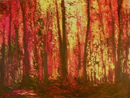 "In the Forest by Don  Sinish Oil ~ 30"" x 40"