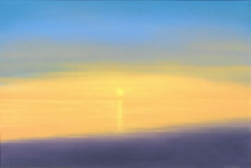 "Seascape for Rothko by Don  Sinish Acrylic ~ 24"" x 36"""