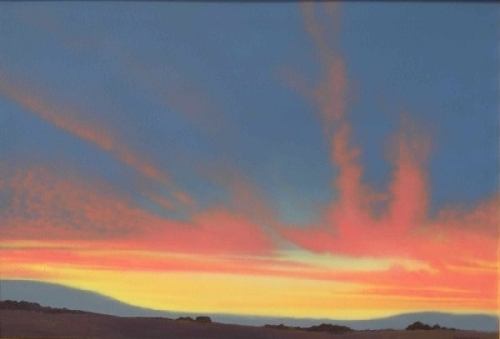 "Red Clouds in the Desert by Don Sinish Acrylic ~ 24"" x 36"""