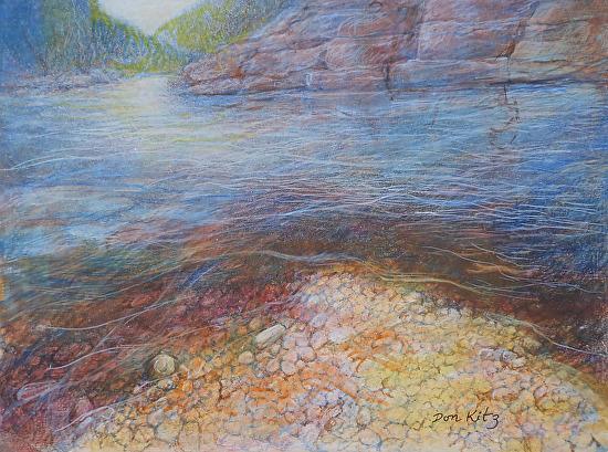 River's Edge - Egg Tempera